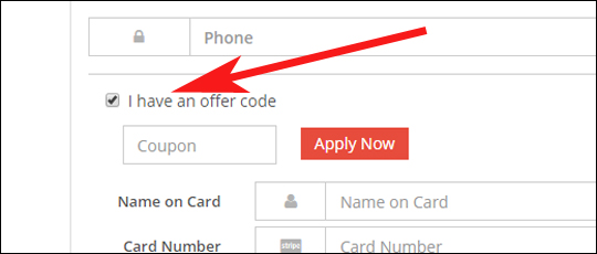 Where to insert Grey Campus offer code